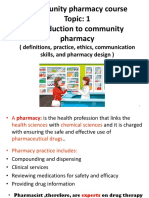 Comunity Pharmacy Introduction Mod
