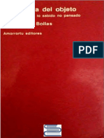 Bollas Christopher - La Sombra Del Objeto - Psicoanalisis de Lo Sabido No Pensado