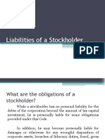 Liabilities of a Stockholder- Ppt