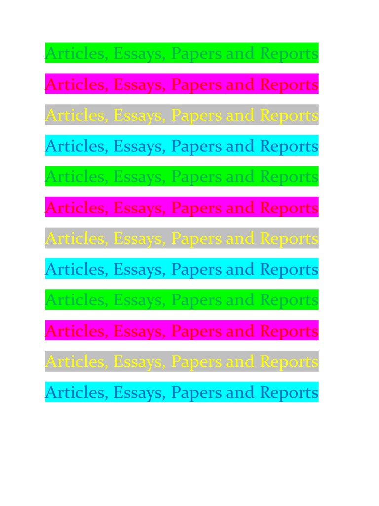 articles essays papers and reports