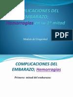 Obst 1.10.1 Complicaciones Del Embarazo Hemorragias en Su 1ª Mitad