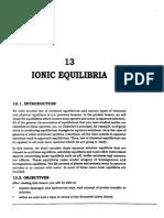 L-13 Ionic Equilibria