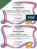 Conduct Award