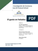 Boletín de Investigación VIII 2016 Gasto en Helados