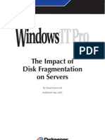 Diskeeper the Impact of Disk Fragmentation on Servers