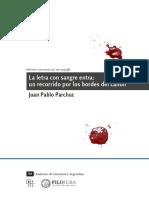 Parchuc, Juan Pablo - La Letra Con Sangre Entra. Un Recorrido Por Los Bordes Del Canon [2012]