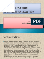 Centralization & Decentralization