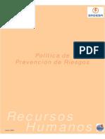 Politica Prevencion de Riesgos