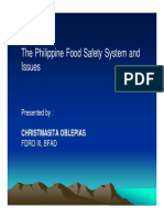 Philippines Food Safety System