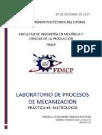 Práctica 1 - Metrología