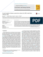 A Novel Adaptive Distance Protection Scheme for DFIG Wind Farm Collector Lines