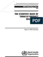 Scientific Basis of Tobacco Product Regulation Report