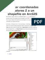 Agregar Coordenadas o Valores Z a Un Shapefile en ArcGIS