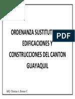 Ordenanza Sustitutiva de Edificaciones y Construcciones Del Canton Guayaquil Portada