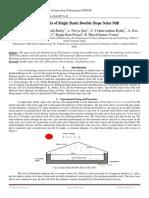 CFD Analysis of Single Basin Double Slope Solar Still
