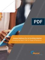 Akamai Content Delivery for an Evolving Internet White Paper