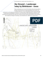 Download as PDF Drawing the Ground – Landscape Urbanism Today by Birkhäuser - Issuu