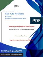 Paloalto Networks ACE Dumps -Valid Paloalto Networks ACE Exam Questions