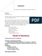 Sentence and Types