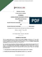 Civil Appeal 30 of 2013