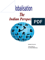 Globalisation- The Indian Perspective