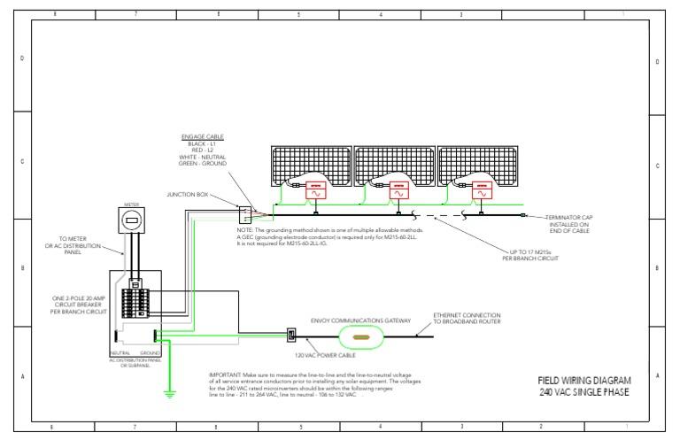 Enphase Field Wiring Diagram M215 240v