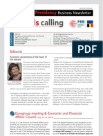 Brussels calling, Belgian EU Presidency, Business Newsletter, 06/09/2010, Issue 2