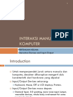 Interanction Design Input Output