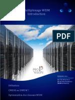 Introduction Multiplexage WDM