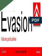 Carnet de poche Citroën Evasion 1999