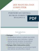 Human Computer Dialogue