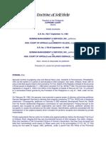 Doctrine of Self-Help (German Services)