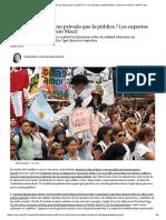 ¿Es Mejor La Educación Privada Que La Pública _ Los Expertos Desmienten a Mauricio Macri _ Perfil