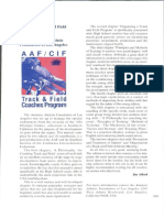 Aafcif Track and Field Coaching Manual by The