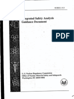 NUREG-1513 Integrated Safety Analysis Guidance Document