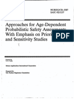 NUREG-CR-5587 Approaches for Age-Dependent PSAs Etc