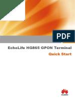 31504262-EchoLife HG865 GPON Terminal Quick Start-(V100R001 05)