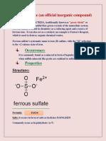 Ferrous Sulfat