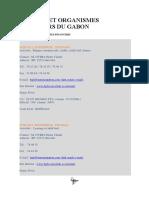 Banques Et Organismes Financiers Du Gabon