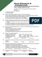 S-Block Elements & Compounds - 5