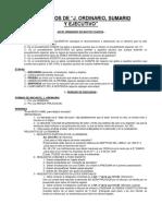 Conceptos j. Ordinario, Sumario y Ejecut (1)