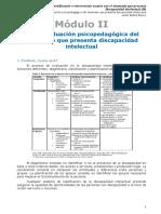 Tema2 La evaluación psicopedagógica del alumnado que presenta discapacidad intelectual