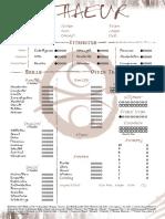Auspice - Ithaeur Sheet