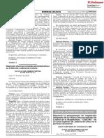 Disponen diversas medidas administrativas en el Distrito Judicial de Cañete