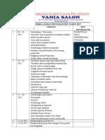 Jadwal Pembelajaran Program Pkw Tahun 2017