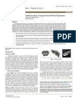 Analysis of Exhaust Manifold Using Computational Fluid Dynamics Fmoa 1000129