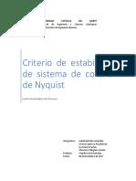 Informe Criterio Nyquist