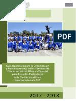 Guia Operativa Para La Organizacion y Funcionamiento de Escuelas Particulares 2017-2018