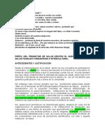 Perfil Promotor Salud SAFCI