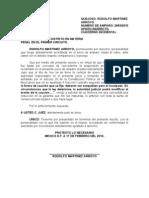 Escrito  de reduccion de garantia Amparo